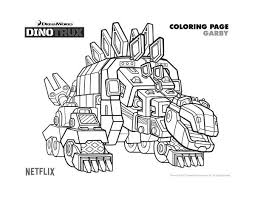 Free Dreamworks Dinotrux Garby Printable Coloring Page Printable