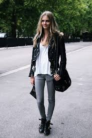 go simple or go home this is the easiest thing to throw on like ever jeans a white t shirt boots and a black leather jacket