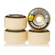 spitfire skateboard wheels. spitfire skateboard wheels - formula four conical 99du (yellow print) natural