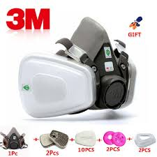 Us 5 04 51 Off 17 In 1 3m 6200 Industrial Half Mask Spray Paint Gas Mask Respiratory Protection Safety Work Dust Proof Respirator Mask Filter In