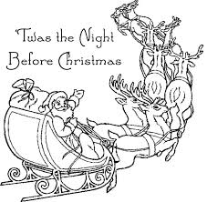 Small Picture Night Before Christmas Coloring Book Coloring Book of Coloring Page