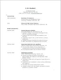 Sample Resumes For Highschool Students Sample Job Resume For High Adorable Resume For Highschool Students