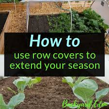 how to use row covers to extend your season season extension backyard eden