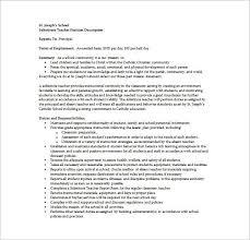 8+ Substitute Teacher Job Description Templates - Free Sample pertaining to Substitute  Teacher Resume Job