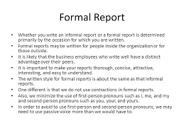 write a report formal report ppt video online download