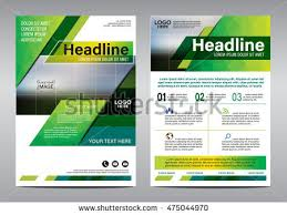 Green Brochure Template Green Annual Report Brochure Flyer Design Template Leaflet Cover