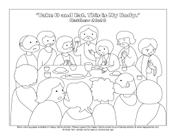 Small Picture Jesus Christ Coloring Printable Page For The Last Supper Pictures