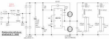 simple electronic ballast circuit wiring diagram for you • electronic ballast for fluorescent tubes 8 144w rh danyk cz ge electronic ballast wiring diagram rapid