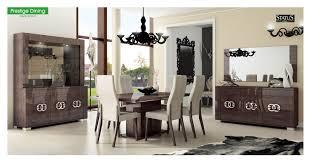 Walnut Living Room Furniture Sets Esf Furniture Prestige 7pcs Dining Room Set In Walnut