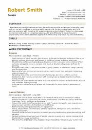 House Painter Resume Painter Resume Samples Qwikresume