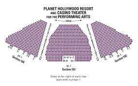 33 Precise Seating Chart For Planet Hollywood Theater