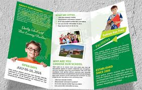 10 Awesome School Brochure Templates Designs _