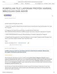 Sehingga berikut merupakan beberapa contoh mengenai laporan pkl diberbagai kalangan atau jurusan Kumpulan File Laporan Proyek Harian Mingguan Dan Akhir Di Http Fil