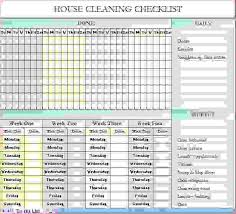 monthly house cleaning schedule template 8 cleaning checklist template procedure template sample