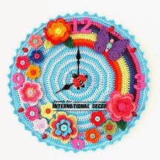 diy wall clock cool wall clocks creative wall clocks crochet wall clock