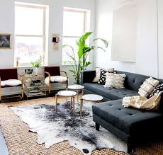 Urban Modern: seagrass rug & instead of the animal skin, perhaps a cotton  woven