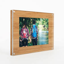 wood block acrylic photo frame