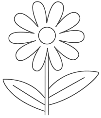 Download And Print Easy Printable Flower Coloring Pages Templates