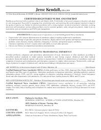 Anesthetist Nurse Sample Resume Stunning Nurse Anesthesia Cv Examples Photos Entry Level Resume 1
