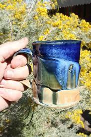 Here at jj potts we are passionate about creating the finest custom handmade mugs. Amazon Com Mugs Handmade Blue To Gold Stoneware Mug 03 Wide Base Mugs Ceramic Coffee Mugs Tea Cups Whiskey Mugs Handmade