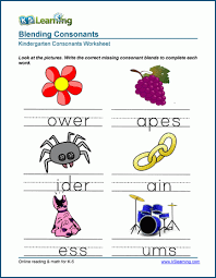 A printable worksheet designed to teach beginning blends sc, sk, sn, sp, st, sw. Writing Consonant Blends Worksheets For Preschool And Kindergarten K5 Learning