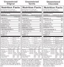 attached is the nutritional information brochure for the almond breeze s from the manufacturer