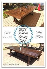 the free woodworking plans to build this extra large diy outdoor dining table that seats