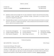 Resume Format For Hotel Management Hospitality Resume Template