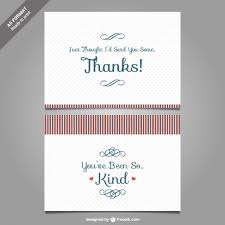 Wedding Thank You Notes Templates Thank You Card Template Vector Vector Free Download