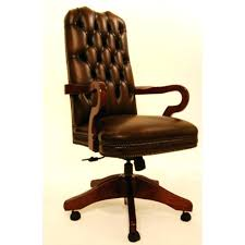 vintage leather office chair. Leather Office Chairs Uk Carver Traditional Vintage Swivel Chair Genuine V