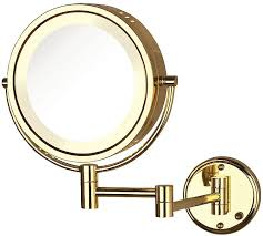 lighted makeup mirror wall mount plug in hostingrq com lighted makeup mirror wall mount plug in jerdon hardwired or plug in reversible 8x