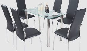modern glass dining table set tempered glass top by size handphone