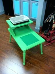 wooden lego table wooden table with chairs old end table re purposed into table available at wooden lego table