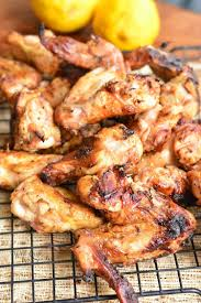 lemon pepper grilled en wings en wings and drumettes are marinated overnight in an easy