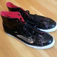 patent leather converse black mens wearhouse