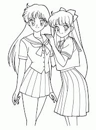 Cute Anime Coloring Pages Wpvoteme