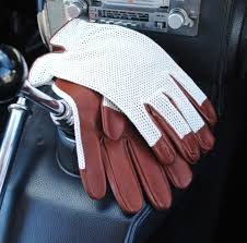 les leston driving gloves brown