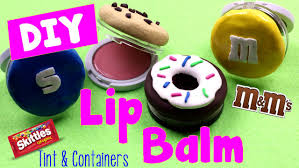 diy crafts how to make lip balm containers tint lip gloss sweet treats candy cookies donuts