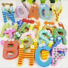 26x letters baby toys kids wooden alphabet fridge magnet child educational toy