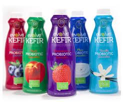 kefir drink. raise your bottles and drink to evolve! kefir