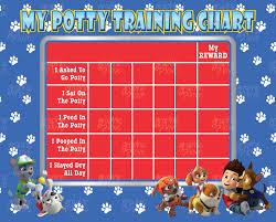 10 Best Photos Of Printable Paw Patrol Potty Training Chart
