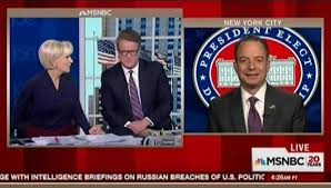 On Morning Joe Reince Priebus Acknowledges That Hosts Scarborough.