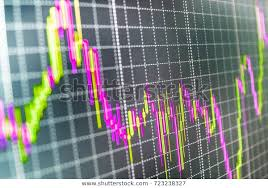 Forex Candlestick Charts Live Forex Market Charts On Computer Display Stock Photo Edit
