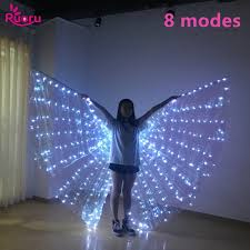 <b>Ruoru Belly Dance</b> Led Wings 8 Modes Adult Split Led Isis Wings ...
