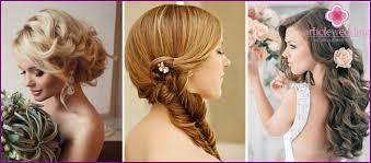 Jednoduché Svadobný účes Možnosti Pre Vlasy Rôznych Dĺžok Fotky