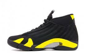 jordan shoes retro 14. air jordan 14 retro \u201cthunder\u201d black/vibrant yellow-white 2014 july for sale shoes