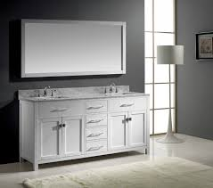 white bathroom vanity mirrors. Boost Bathrooms Theme With Bathroom Vanity Mirrors Brushed Nickel And The Other Alternatives : Elegant White O