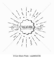 Vocation Inspirational Vector Summer Illustration