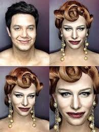see how 1 man transforms into julia roberts britney spearore with makeup