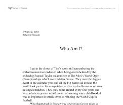Who I Am Essay Examples Under Fontanacountryinn Com